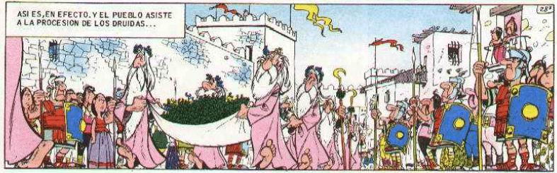La procesión druídica de Semana Santa