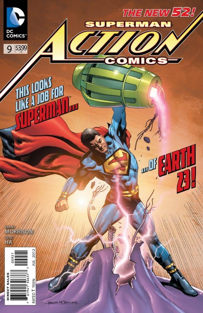 Portada alternativa de Action Comics Vol.2 #9. Por Rags Morales y Brad Anderson.
