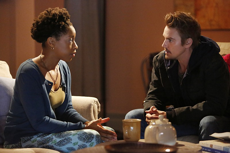 "Frequency -- ""Deviation"" -- Image Number: FRQ106b_0021.jpg -- Pictured: Riley Smith as Frank (Right) -- Photo: Bettina Strauss/The CW -- © 2016 The CW Network, LLC. All rights reserved."