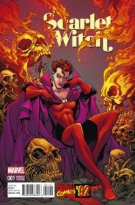Portada alternativa de Scarlet Witch Vol 2 #1. Por Raney.