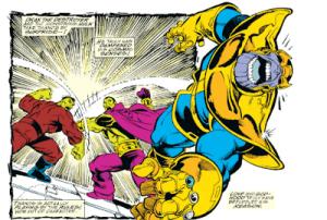 Viñeta de Infinity Gauntlet #4.