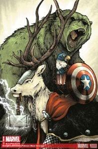"Avengers #24 - Variant ""Meow"" de Petersen."
