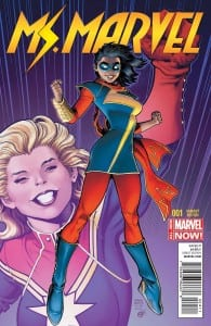 Portada alternativa de Ms.Marvel Vol.3 #01. Por Arhtur Adams