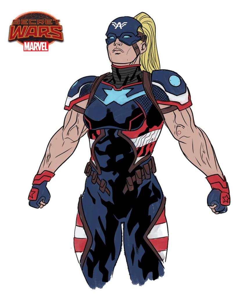 Boceto de Capitán América 2099