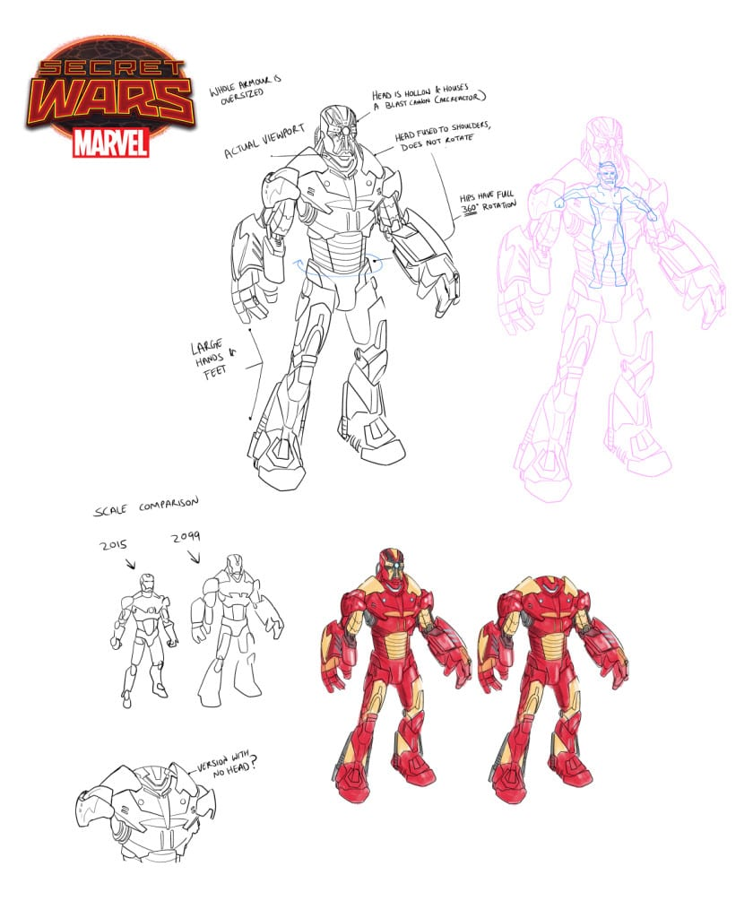 Boceto de Iron Man 2099