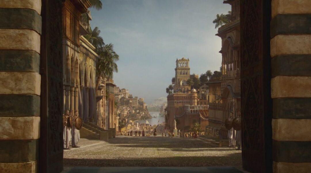 Interior de la ciudad de Qarth en la serie Juego de Tronos.