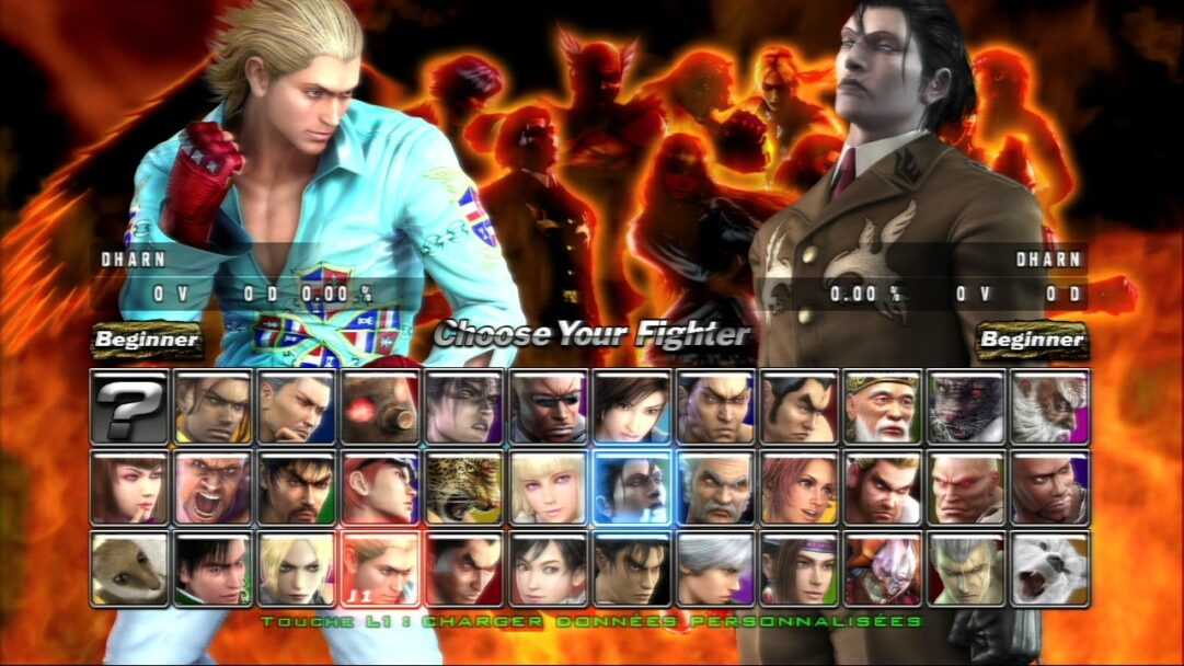 tekken5dr-character-select-screen