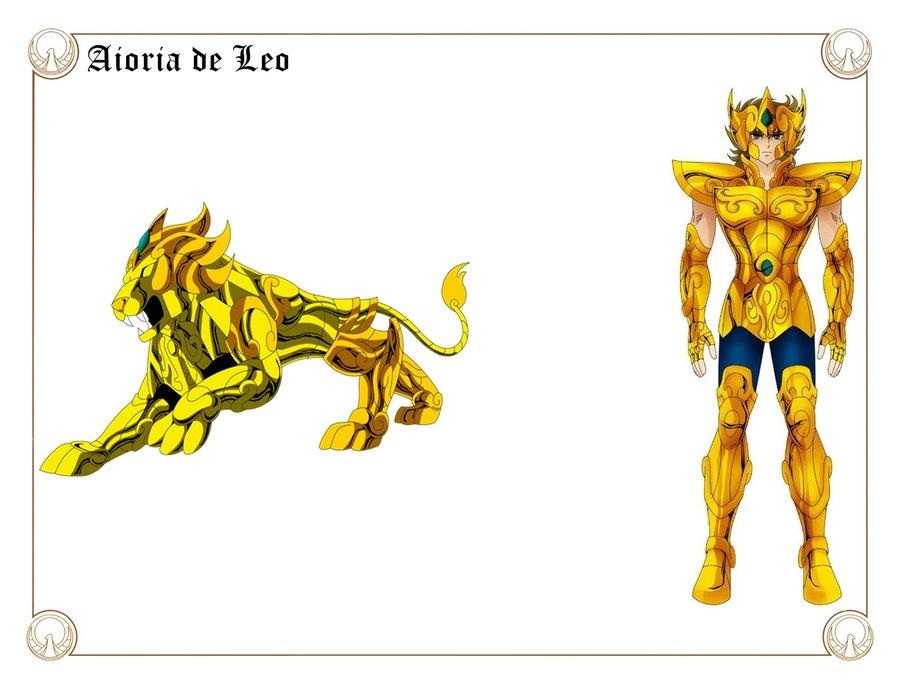 Aiolia de Leo. Por Shingo Araki y javiiit0