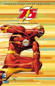 Portada española del Especial Flash Comics (1940-2015): 75 años de Flash. Por Andy y Joe Kubert.