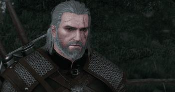 Geralt con el pelo húmedo
