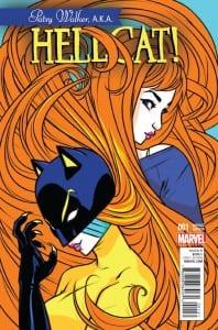 Portada de Patsy Walker, A.K.A. Hellcat! #1. Por Campbell.