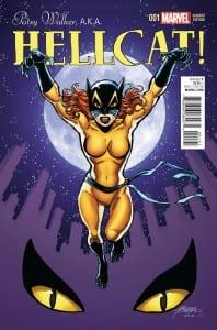 Portada de Patsy Walker, A.K.A. Hellcat! #1. Por George Perez