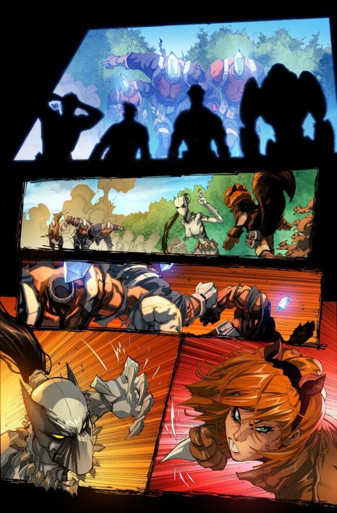 Los Nuevos Vengadores en acción