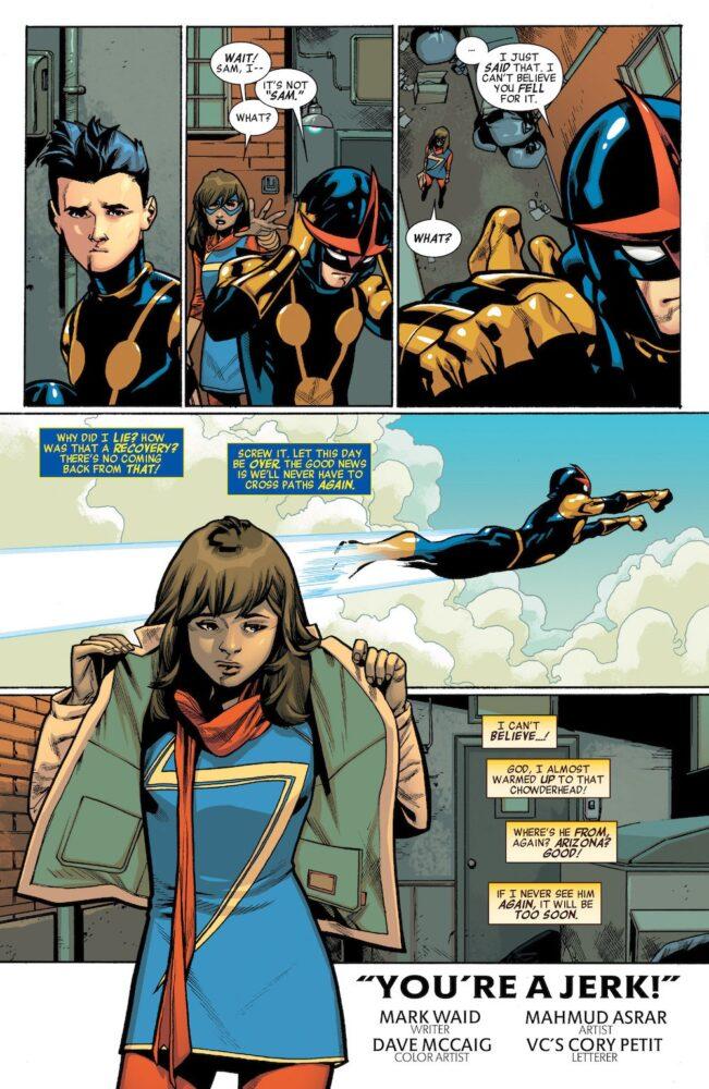 Nova y Ms. Marvel según Mahmud Asrar