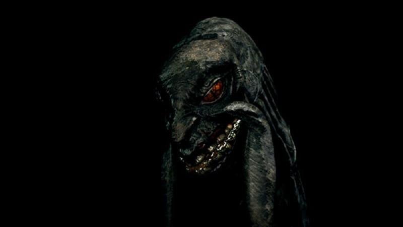 Una serpiente primordial, criatura cuanto menos tenebrosa