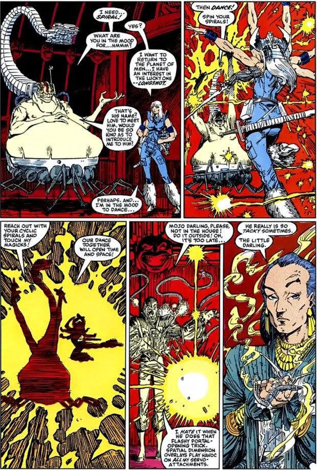 Mojo, Espiral y Mayor Domo, enemigos que Claremont usaría en sus X-Men