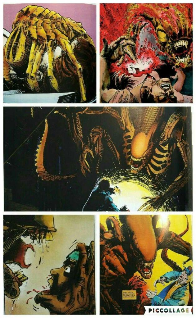 alien, la historia ilustrada collage cosas felices