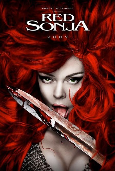 Arte conceptual de Red Sonja con Rose McGowan