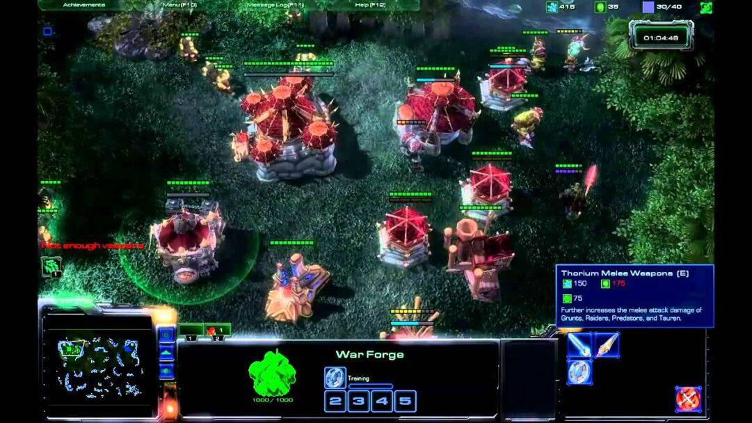 Gráficos de Starcraft II recreando el universo Warcraft