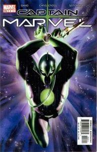 Portada de Captain Marvel Vol.4 #03. Por Alex Ross.
