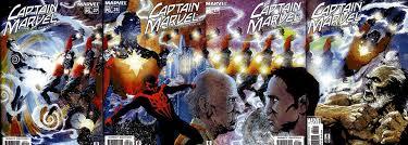 Portadas de Captain Marvel Vol.3. #27-#30 USA. Por James H.Williams III y Jose Villarrubia.