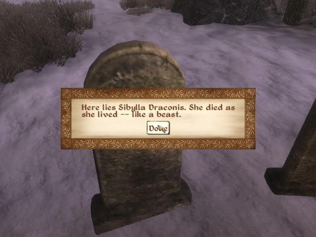 """""""Aquí descansa Sibylla Draconis. Murió como vivió: como una bestia"""""""