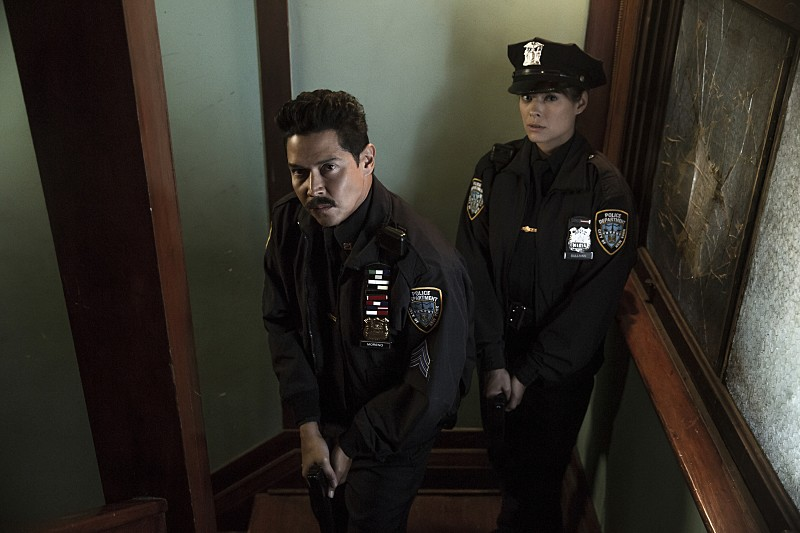 """Frequency -- """"Seven Three"""" -- Image Number: FRQ104b_0034.jpg -- Pictured (L-R): Anthony Ruivivar as Stan and Peyton List as Raimy -- Photo: Katie Yu/The CW -- © 2016 The CW Network, LLC. All rights reserved."""