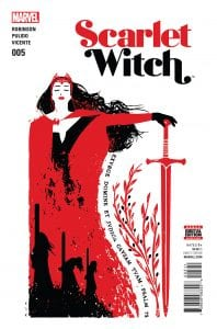 Scarlet Witch Vol 2 #5. Por David Aja.