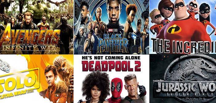 Las películas más vistas de 2018
