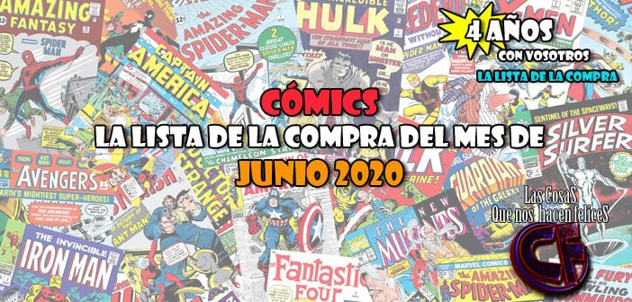 Cómics. La lista de la compra del mes de Junio de 2020