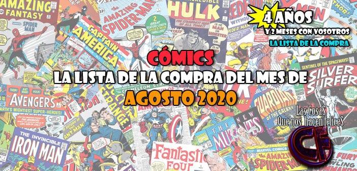 Cómics. La lista de la compra del mes de Agosto de 2020
