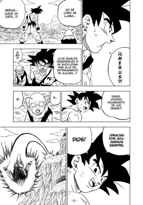 Goku recuperado por Dende