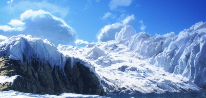 Paisaje Antártida dibujado